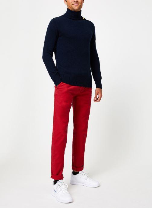 Vêtements Scotch & Soda Marine pull with high collar and button closure Bleu vue bas / vue portée sac