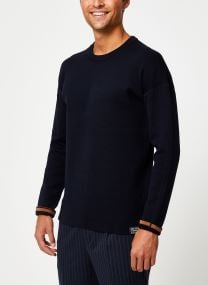 Pull - Reversible crewneck pull with dropped shoul