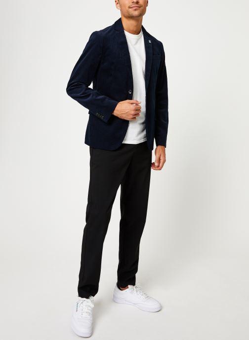 Vêtements Scotch & Soda Lightweight corduroy blazer Bleu vue bas / vue portée sac