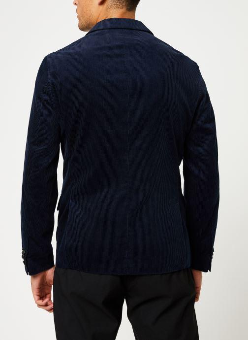 Vêtements Scotch & Soda Lightweight corduroy blazer Bleu vue portées chaussures