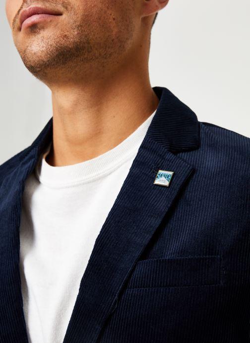Vêtements Scotch & Soda Lightweight corduroy blazer Bleu vue face