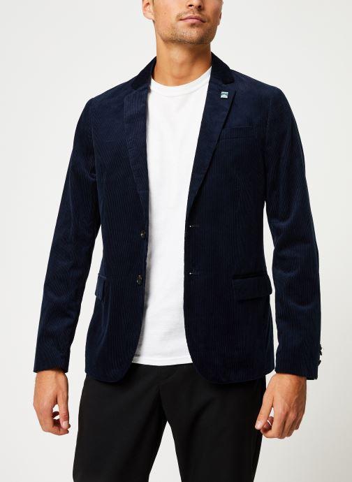 Vêtements Scotch & Soda Lightweight corduroy blazer Bleu vue droite