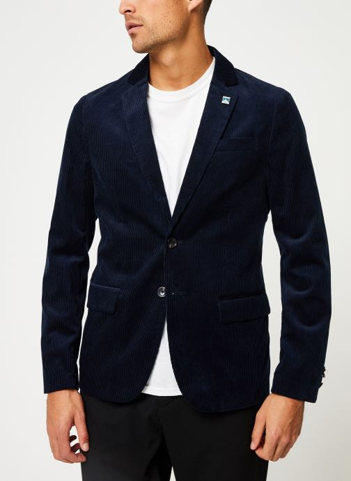 Vêtements Scotch & Soda Lightweight corduroy blazer Bleu vue détail/paire