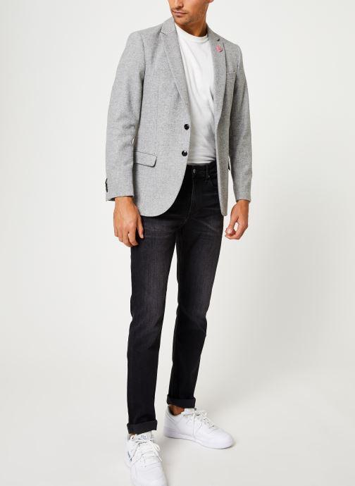 Vêtements Scotch & Soda Peak lapel blazer in wool-blend quality with neps Gris vue bas / vue portée sac
