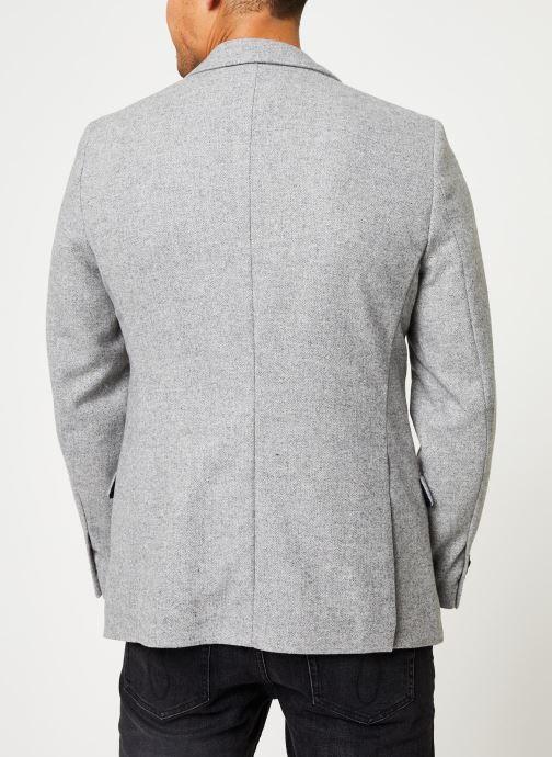 Vêtements Scotch & Soda Peak lapel blazer in wool-blend quality with neps Gris vue portées chaussures
