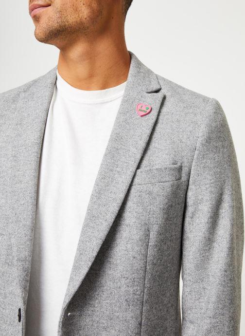 Vêtements Scotch & Soda Peak lapel blazer in wool-blend quality with neps Gris vue face