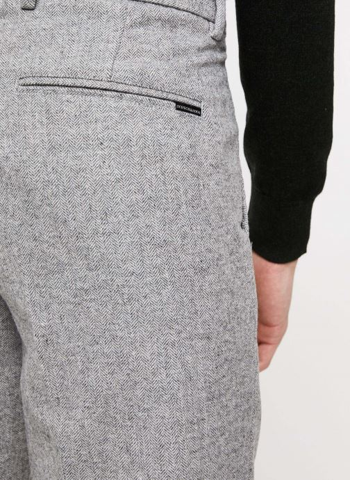 Vêtements Scotch & Soda STUART- Classic winter chino in wool-blend quality with neps Gris vue face