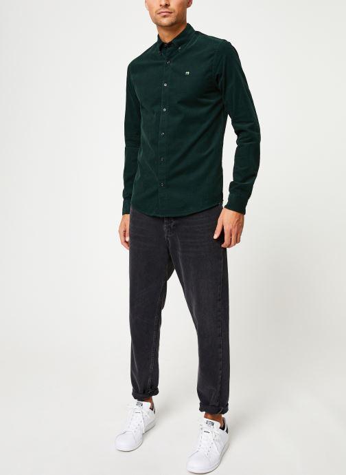 Vêtements Scotch & Soda REGULAR FIT - Clean Chic corduroy shirt Vert vue bas / vue portée sac