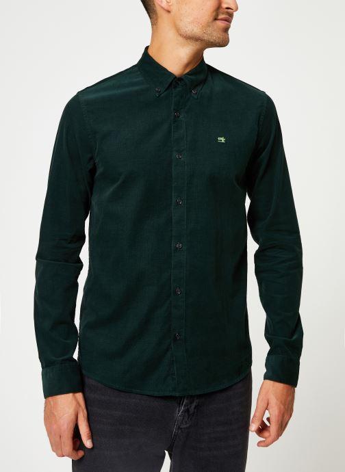 Vêtements Scotch & Soda REGULAR FIT - Clean Chic corduroy shirt Vert vue détail/paire