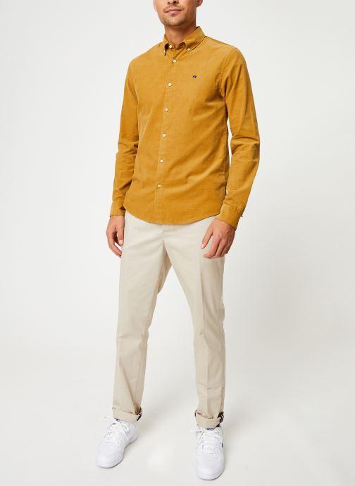 Vêtements Scotch & Soda REGULAR FIT - Clean Chic corduroy shirt Jaune vue bas / vue portée sac