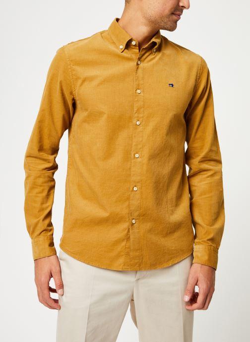 Vêtements Scotch & Soda REGULAR FIT - Clean Chic corduroy shirt Jaune vue détail/paire