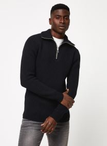 Vêtements Accessoires Chunky rib-knit pull with high zip-up collar