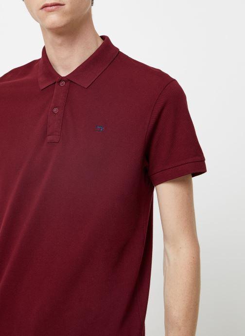 Vêtements Scotch & Soda NOS - Classic garment dyed pique polo Bordeaux vue face