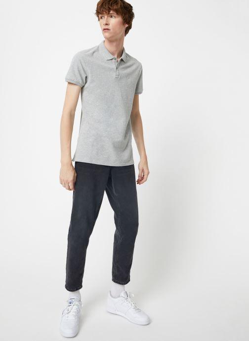Vêtements Scotch & Soda NOS - Classic garment dyed pique polo Gris vue bas / vue portée sac