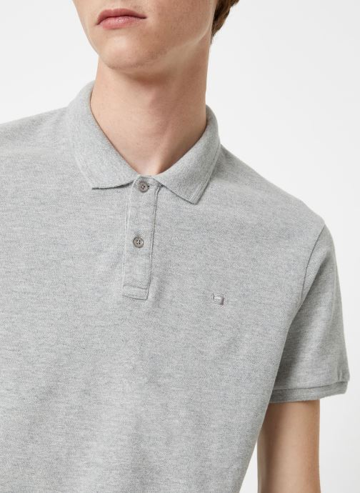Vêtements Scotch & Soda Classic garment dyed pique polo Gris vue face