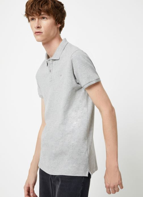 Vêtements Scotch & Soda Classic garment dyed pique polo Gris vue droite