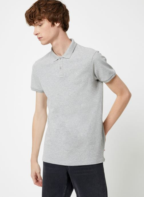 Vêtements Scotch & Soda Classic garment dyed pique polo Gris vue détail/paire