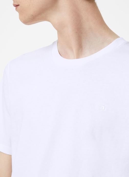 Vêtements Scotch & Soda Cotton tee with wider neck rib Blanc vue face