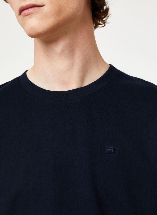 Vêtements Scotch & Soda Cotton tee with wider neck rib Bleu vue face