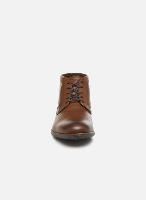 Bottines et boots Rockport Dustyn Chukka C Marron vue portées chaussures