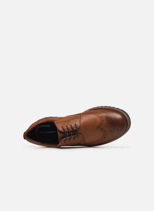 Chaussures à lacets Rockport Marshall Wingtip C Marron vue gauche