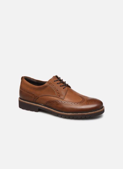 Chaussures à lacets Rockport Marshall Wingtip C Marron vue détail/paire