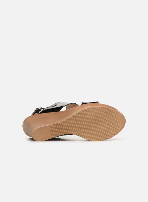 Sandales et nu-pieds Bluegenex B-2123 Noir vue haut