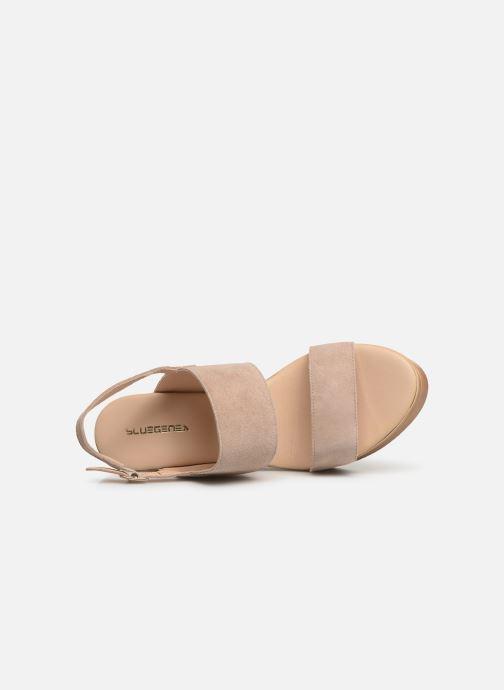 Sandales et nu-pieds Bluegenex B-2123 Beige vue gauche