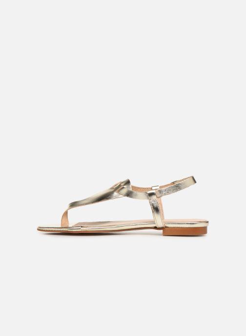 Sandales et nu-pieds Bluegenex B-2251 Or et bronze vue face