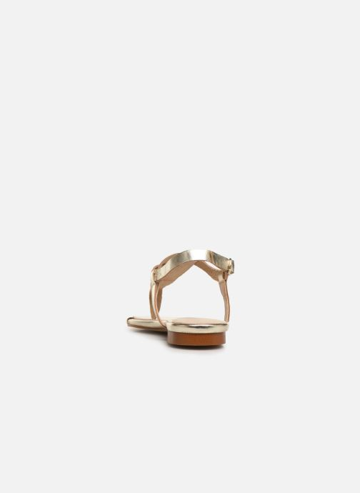 Sandales et nu-pieds Bluegenex B-2251 Or et bronze vue droite