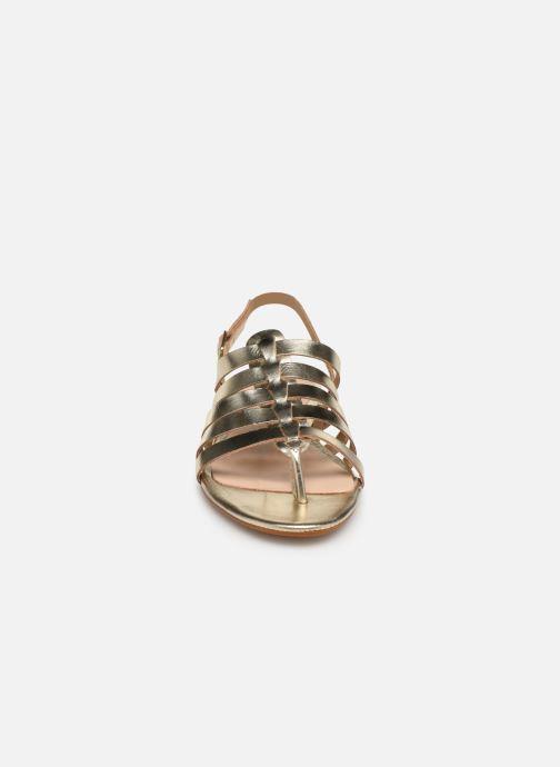 Sandales et nu-pieds Bluegenex B-2253 Or et bronze vue portées chaussures