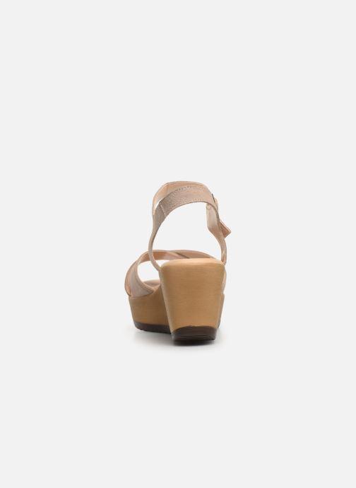 Sandales et nu-pieds Bluegenex B-2122 Beige vue droite