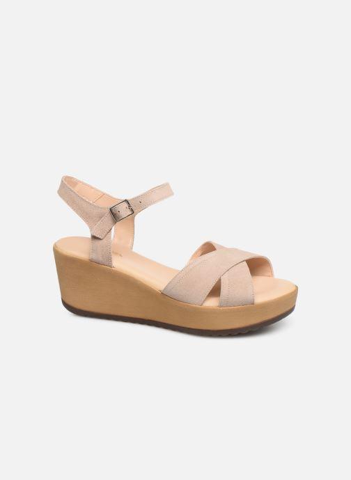 Sandales et nu-pieds Bluegenex B-2122 Beige vue détail/paire