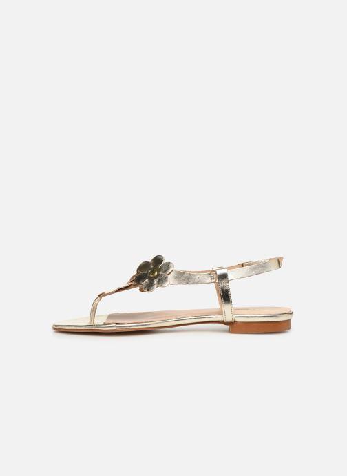 Sandales et nu-pieds Bluegenex B-2254 Or et bronze vue face