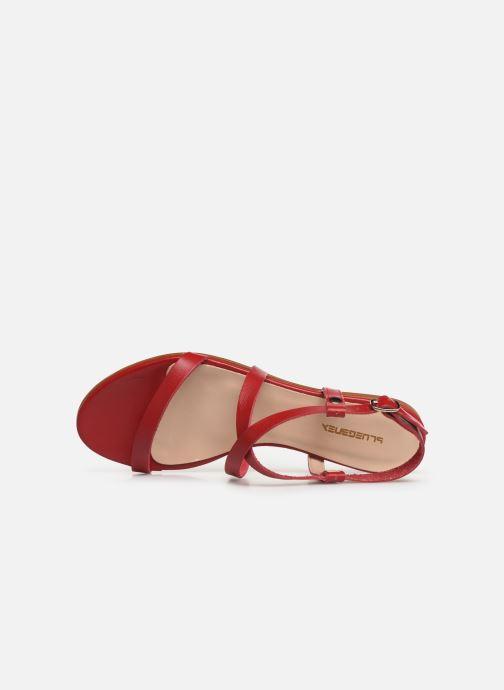 Sandales et nu-pieds Bluegenex B-2250 Rouge vue gauche