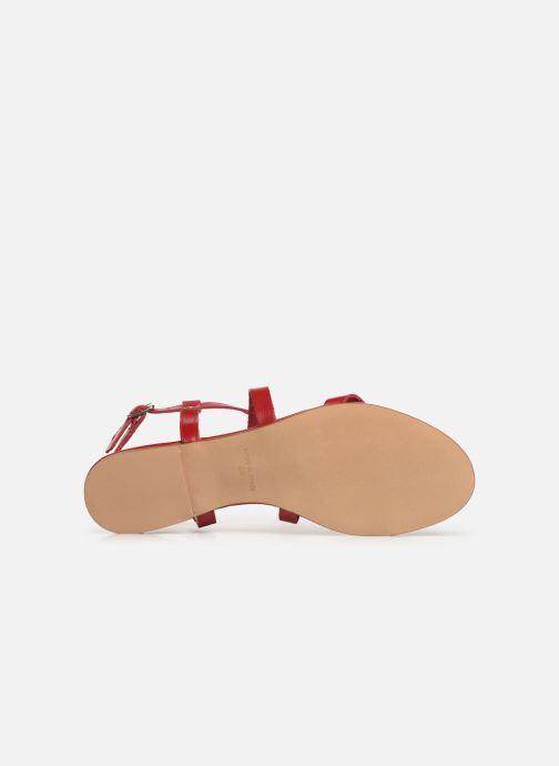 Sandales et nu-pieds Bluegenex B-2250 Rouge vue haut