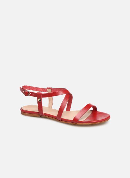 Sandales et nu-pieds Bluegenex B-2250 Rouge vue détail/paire
