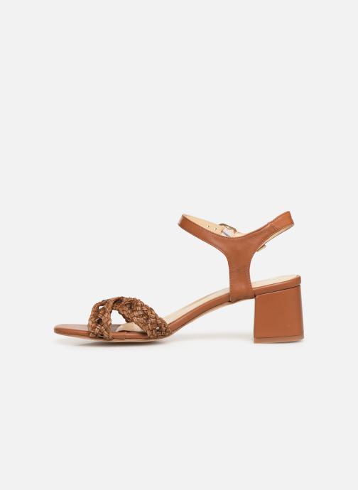 Sandals Humat Julia Cruz Brown front view