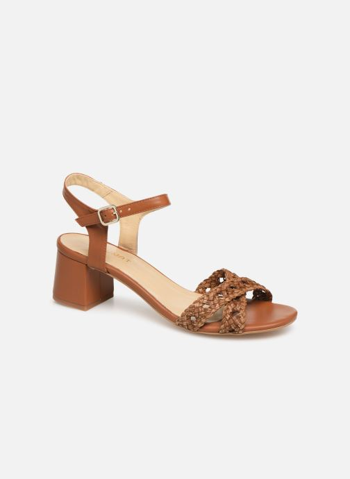 Sandals Humat Julia Cruz Brown detailed view/ Pair view