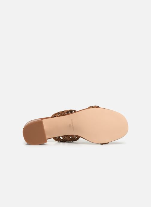 Mules & clogs Humat Julia Trenza Brown view from above