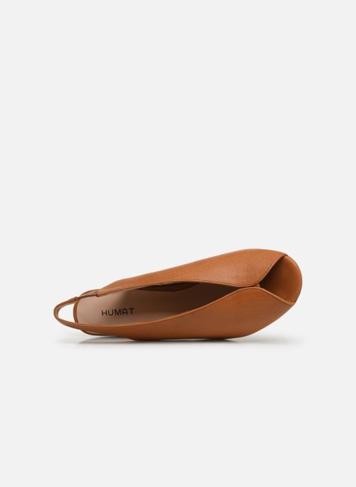 Sandals Humat Mona Elastico Brown view from the left