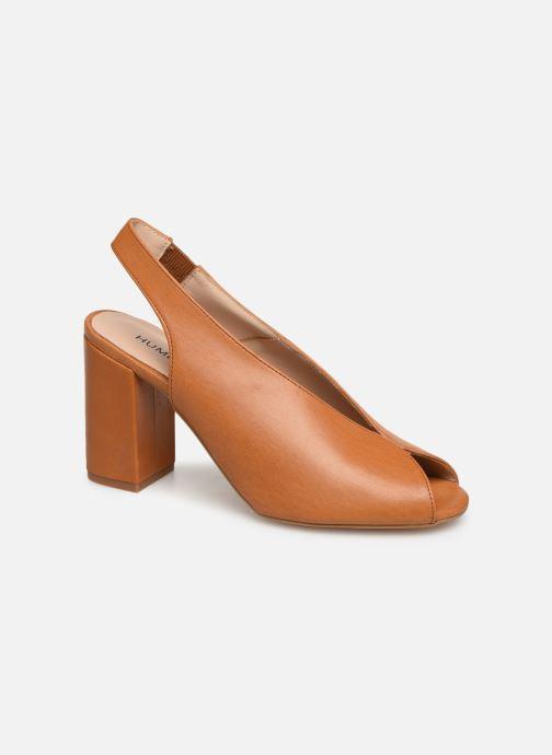 Sandals Humat Mona Elastico Brown detailed view/ Pair view