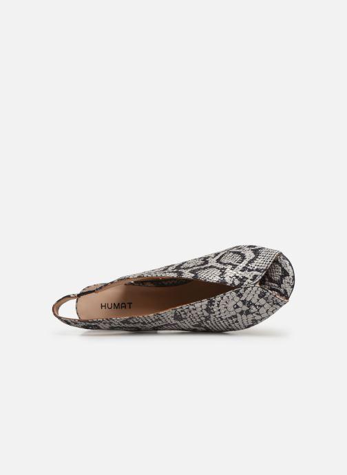 Sandalen Humat Mona Elastico weiß ansicht von links