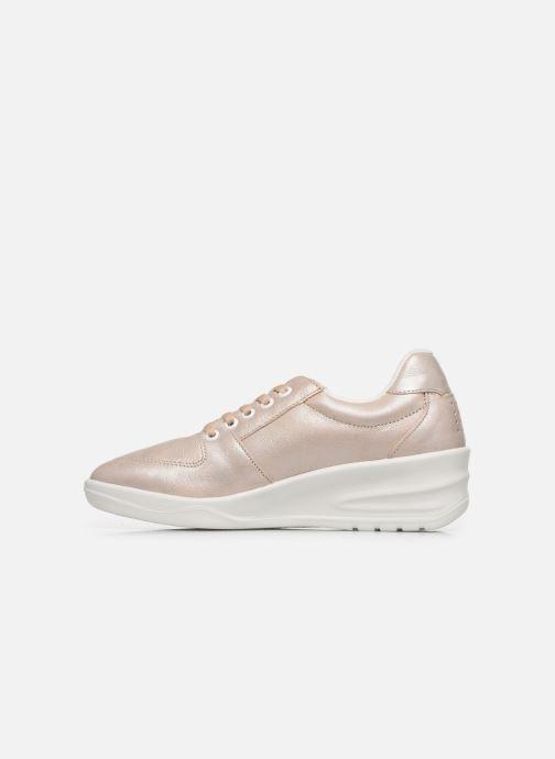 Sneakers TBS Made in France Danzips Beige immagine frontale