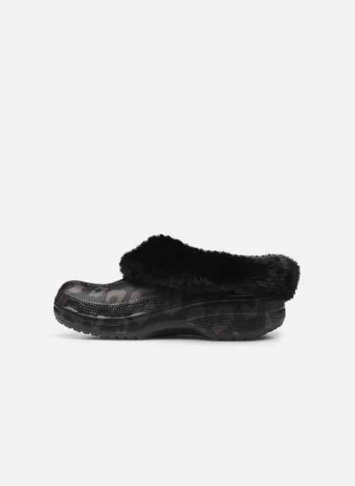 Mules & clogs Crocs Classic Mammoth Luxe Metallic C Black front view