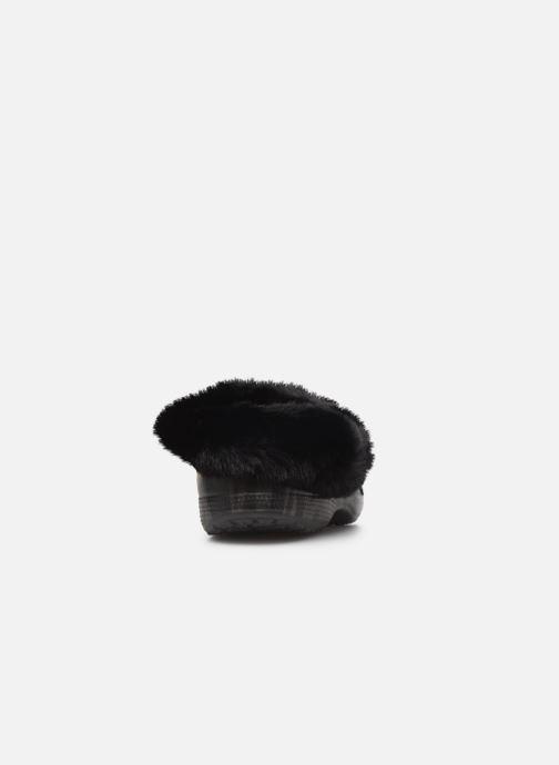 Mules et sabots Crocs Classic Mammoth Luxe Metallic C Noir vue droite