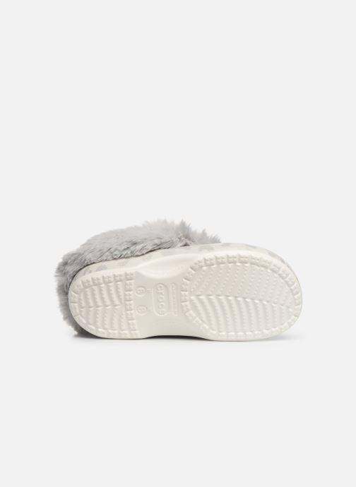 Mules et sabots Crocs Classic Mammoth Luxe Metallic C Blanc vue haut
