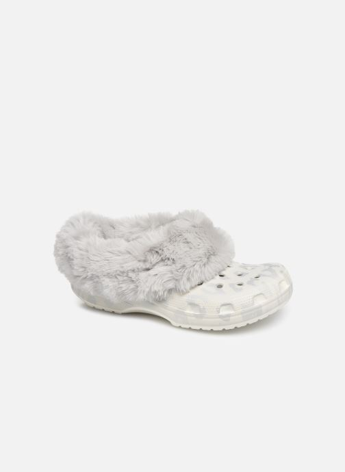 Zoccoli Crocs Classic Mammoth Luxe Metallic C Bianco vedi dettaglio/paio