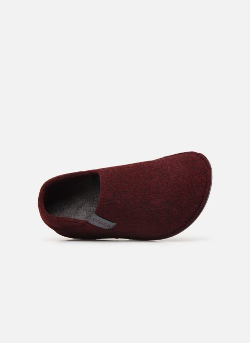 Pantuflas Crocs Classic Convertible Slipper W Vino vista lateral izquierda