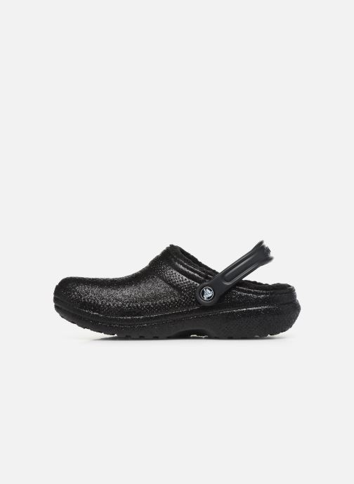 Mules & clogs Crocs Classic Glitter Lined Clog Black front view